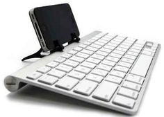 You can use ANY bluetooth keyboard with your iPhone or iPad.   19 Mind-Blowing Tricks Every iPhone And iPad User Should Know