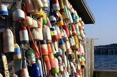 P-town, Mass - Buoys, Provincetown, Ma