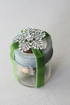 Vintage Brooch Collection snowflake + ribbon packaging holidays