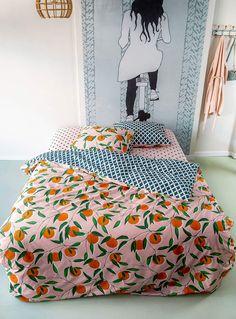 Citrus zest duvet cover set | Covers & Co | Duvet Covers | Bedroom | Simons Set Cover, Duvet Cover Sets, Pillow Shams, Pillows, Trellis Pattern, Cotton Duvet, Home Decor Trends, Bedroom Decor, Blanket