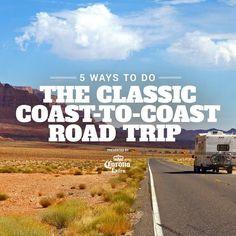 5 Ways to Do the Classic Coast-to-Coast Road Trip