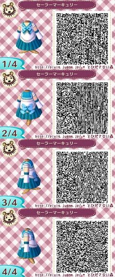 SAILOR MOON. MERCURY. ANIMAL CROSSING NEW LEAF. QR CODE. ACNL