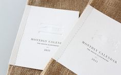 packaging- stitch business card to canvas sacks