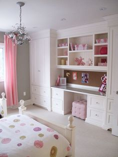 Love the wall unit! When I design my own house I want to make the rooms large enough to do this!