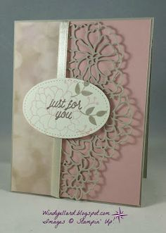 Windy's Wonderful Creations: Just For You With So In Love, Stampin' Up!, So Detailed thinlits dies, So In Love, Falling In Love DSP, Stitched Shapes dies