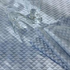 Serviette de table style scandinave Garnier-Thiebaut - Modèle : Reflection - Serviette de table en coton - Coloris : métal