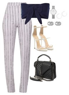 """Untitled #4100"" by magsmccray on Polyvore featuring Solid & Striped, Giuseppe Zanotti, Yves Saint Laurent, Gucci and Daniel Wellington"
