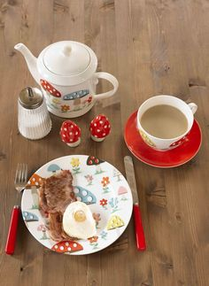 Love the Cath Kidston mushroom collection. Especially the teapot and the big mug (not pictured)!
