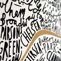 A3 London print  black and gold Christmas gift by OldEnglishCo, £21.00