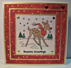 Using 'Festive Friends' Irresistible Images from LC Designs