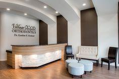 Village Orthodontics | reception area interior design | Arminco Inc