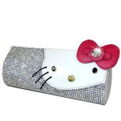 #Hello #Kitty #Swarovski #Crystal #Clutch #Purse - #Silver #Crystal #Wallet