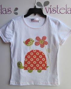 Camiseta infantil patchwork