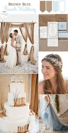 Brown & Blue Beach Wedding Inspiration, you can almost feel the sand between your toes