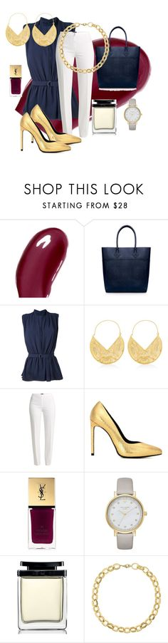 """""""Untitled #61"""" by tammy-stacey ❤ liked on Polyvore featuring Chantecaille, Rebecca Minkoff, Estnation, Ottoman Hands, Basler, Yves Saint Laurent, Kate Spade, Marc Jacobs and Laundry by Shelli Segal"""