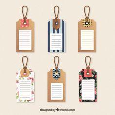 Colección etiquetas lindas