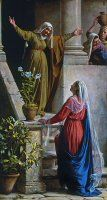 Mothers of the Bible Word Search: Mary and Elisabeth by Carl Bloch