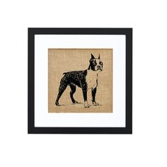 Boston Terrier print on burlap by Fiber and Water || #home #decor #dog |  | home decor for the living room, kitchen, bedroom, bathroom
