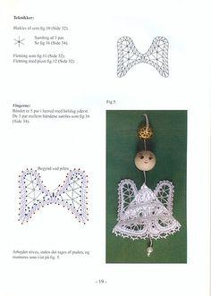 angel 3 Crochet Ornaments, Angel Ornaments, Crochet Angels, Irish Crochet, Bobbin Lace Patterns, Embroidery Patterns, Lacemaking, Christmas Angels, Handicraft