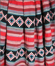 Skirts like these are the traditional attire of Miccosukee-speaking Seminole women for the New Year ceremony known as the Green Corn Dance. Description from deborahgarnercollection.com. I searched for this on bing.com/images