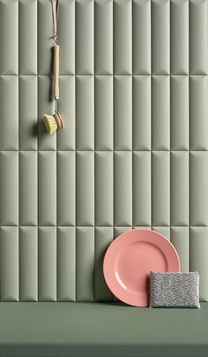 Six geometric and three-dimensional surfaces, designed to create architectural spaces using wall tiles that are brought to life by light and shadow. Available in a small size of and availa Interior Walls, Home Interior, Bathroom Interior, Interior And Exterior, Küchen Design, Tile Design, Interior Design Shows, Tile Patterns, Home Decor Accessories