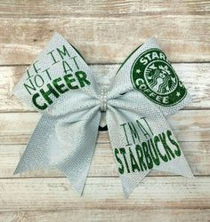 Hey, I found this really awesome Etsy listing at https://www.etsy.com/listing/493457786/starbucks-cheer-bow-cheer-and-starbucks