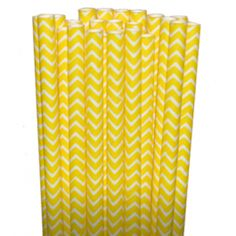 Chevron Yellow Paper Party Straws - $3.75 for 25 count shopsweetsandtreats.com