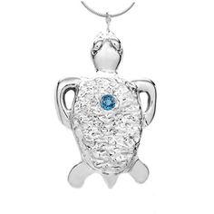 Michele Benjamin Women's Sterling Silver Blue Topaz Torto... https://www.amazon.ca/dp/B01MSY3U8C/ref=cm_sw_r_pi_dp_x_q0mwybKTKXDH5  #tortoise #jewelry #michelebenjamin #topaz #bluetopaz #sterlingsilver #turtle #necklace #amazon