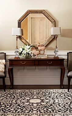Junoesque in its stately bearing, the Dunbarton Cabriole Console gets part of its allure from its curved handcarved legs confidently supporting the solid-wood top.