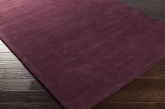 Mystique Area Rug | Purple Solids and Borders Rugs Hand Loomed | Style M5326