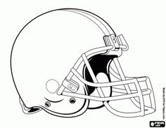 Free A helmet, Cleveland Browns logo, american football franchise in the North Division of AFC, Cleveland and Berea, Ohio coloring and printable page. Football Wreath, Nfl Football, American Football, Football Helmets, Helmet Tattoo, Helmet Logo, Nfl Logo, Sports Logo, Theme Sport