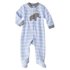 Just One You™Made by Carter's® Newborn Boys' Sleep N' Play - Light Blue/Heather Grey