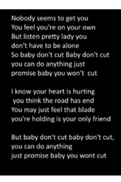 B-Mike - Baby Don't Cut // this song made me cry.