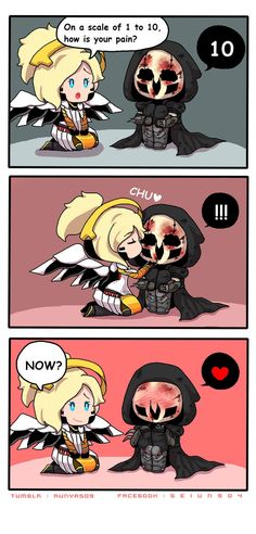 Overwatch reaper/Gabriel and Mercy /Angela