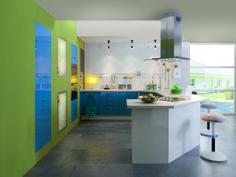 Cuisine équipée Glossy Color - Cuisine Plus