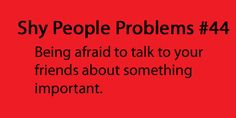 shy people problems   Tumblr
