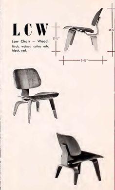 An #eames #eameschair #LCW from a 1948 @hermanmiller Catalog