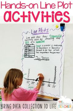 line plot activity ideas - love this idea (collect & measure leaves)