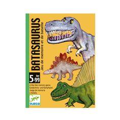 Dans ce jeu de mémoire sous forme de bataille, chaque joueur reçoit les mêmes cartes : des dinosaures de forces croissantes numérotés de 1 à 12. Chacun mélange ses cartes, les pose devant lui faces découvertes, mémorise leurs emplacements puis les retourne à nouveau faces cachées. Le premier joueur choisit une de ses cartes qu'il pose au centre de la table. Chacun leur tour les joueurs choisissent alors une de leurs cartes pour tenter de gagner la bataille. Le dinosaure le plus élevé…