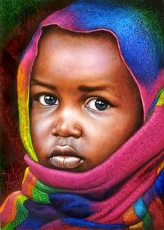 20 Beautiful African Children Paintings By Dora Alis - Fine Art and You - Painting blog| Digital Art| Illustration| Drawing