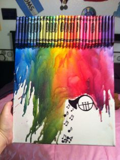 Melted crayons and a French horn. (: Hannah is it bad that I really wanna make this.....?