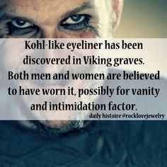 Now... I understand why I've always worn dark Kohl around my eyes. Never would I leave my house or ship :-) without Kohl decorating my face; My War Paint is always on and with the help of G-d's Holy Spirit, I remain Vigilant at all times.