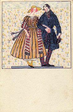 822. Fritzi Löw - Wiener Werkstatte postcard