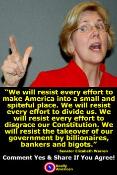 Elizabeth Warren On Citizens United Image May Contain  Person Text Truth To Power Political Beliefs Politics