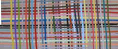 Untitled (Weave), 2014 by American artist Alicia McCarthy. Gouache and latex paint on found wood, x 43 in. source: painting or something. via HuffPost California Art, Northern California, Museum Art Gallery, Art Museum, Best Short Stories, Words On Canvas, Modern Artists, American Artists, Art Boards