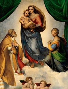 Raphael (Raffaello Santi), The Sistine Madonna, 1512/13.