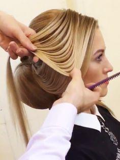 Es gibt Frisuren - und es gibt FRISUREN! Was der russische Hairystylist Georgiy Kot aus langen Haaren zaubert, kann man nur  Kunstwerk nennen!