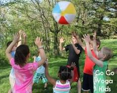 Yoga Beachball is a fun way to learn, practice and remember many different summer yoga poses.
