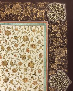 Illumination: Ganjineh group Islamic Art Pattern, Pattern Art, Islamic Tiles, Mughal Architecture, Illumination Art, Persian Pattern, Iranian Art, Arabic Art, Turkish Art
