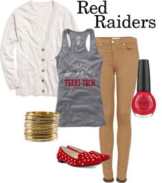"""""""Red Raiders at Texas Tech"""" by bncollege on Polyvore"""